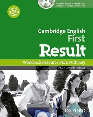 FIRST RESULT WORKBOOK WITH KEY EXAM CD-R PACK 2015 EDITION
