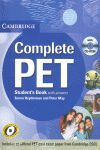 Student´s Book COMPLETE PET WITH ANSWERS + CD ROM.