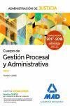 N. ED. CUERPO GESTION PROCESAL Y ADMINISTRATIVA TEST JUSTICIA