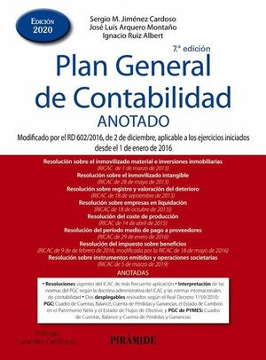 7ª ED. PLAN GENERAL DE CONTABILIDAD ANOTADO