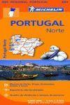 PORTUGAL NORTE MAPA REGIONAL 591