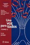 UNA VOZ PARA TODOS TOMO 2º LA VOZ PATOLOGICA - ESPAÑOL