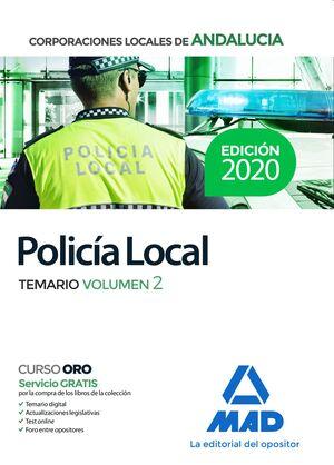 POLICÍA LOCAL DE ANDALUCÍA. TEMARIO VOLUMEN 2