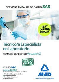 TECNICO/A ESPECIALISTA DE LABORATORIO SAS TEMARIO ESPECIFICO VOLUMEN 2