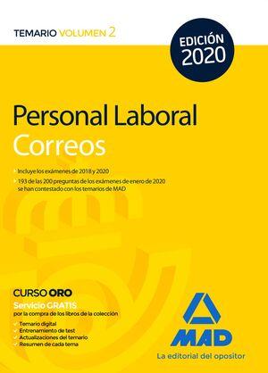 PERSONAL LABORAL DE CORREOS Y TELÉGRAFOS. TEMARIO VOLUMEN 2 TEMARIO VOLUMEN 2