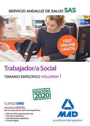 TRABAJADOR;A SOCIAL DEL SERVICIO ANDALUZ DE SALUD. TEMARIO ESPECÍFICO VOLUMEN 1