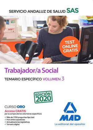 TRABAJADOR;A SOCIAL DEL SERVICIO ANDALUZ DE SALUD. TEMARIO ESPECÍFICO VOLUMEN 3