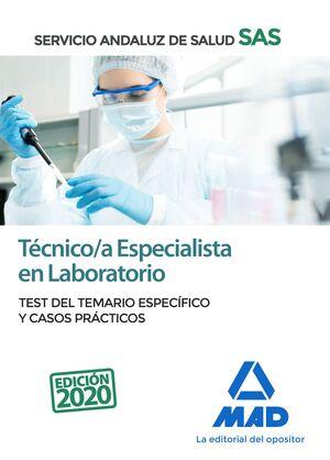 TÉCNICO/A ESPECIALISTA EN LABORATORIO DEL SERVICIO ANDALUZ DE SALUD. TEST DEL TE