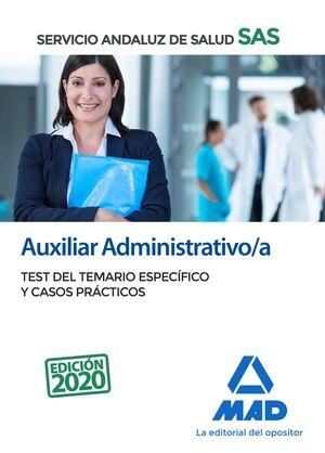 AUXILIAR ADMINISTRATIVO;A DEL SERVICIO ANDALUZ DE SALUD. TEST DEL TEMARIO ESPECÍ