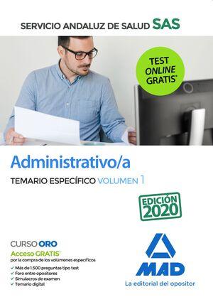 ADMINISTRATIVOS/A SAS TEMARIO ESPECIFICO VOLUMEN 1