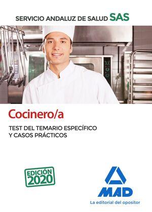 COCINERO;A DEL SERVICIO ANDALUZ DE SALUD. TEST DEL TEMARIO ESPECÍFICO Y CASOS PR