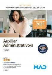 ADMON DEL ESTADO AUXILIAR ADMINISTRATIVO TEST 2021