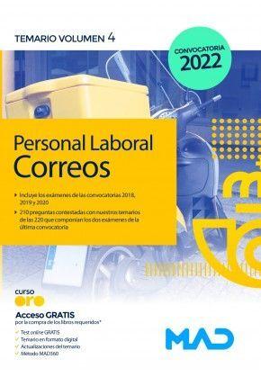 TEMARIO. PERSONAL LABORAL DE CORREOS Y TELÉGRAFOS
