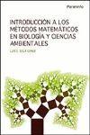 INTRODUCCION A LOS METODOS MATEMATICOS EN BIOLOGA