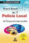 POLICIA LOCAL TEMARIO GENERAL VOLUMEN I
