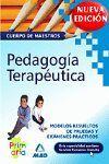 PEDAGOGIA TERAPEUTICA -MAESTROS- MODELOS RESUELTOS PRUEBAS Y EXAMENES