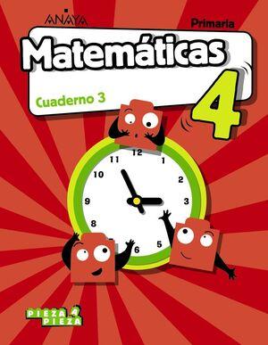 MATEMÁTICAS 4. CUADERNO 3.
