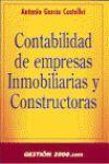 CONTABILIDAD DE EMPRESAS INMOBILIARIAS Y CONSTRUCTORAS