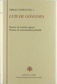 OBRAS COMPLETAS I LUIS DE GONGORA POESIA