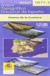 MAPA TOPOGRAFICO JIMENA DE LA FRONTERA 1:25.000